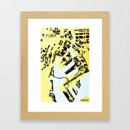 TOKYO (MAPSTAT SERIES) Framed Art Print