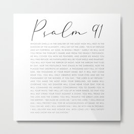 Psalm 91 Whoever dwells in the shelter of the Most High Metal Print