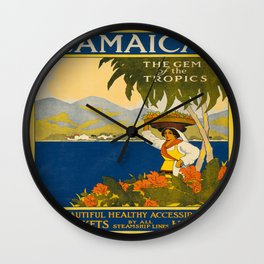 Vintage poster - Jamaica Wall Clock