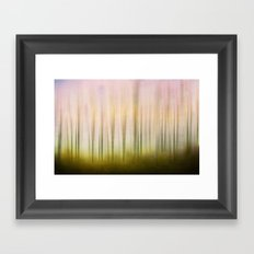 Blurred dawn Framed Art Print