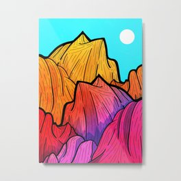 Summer top hills Metal Print