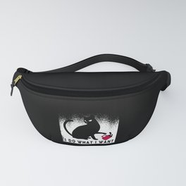 I do what i want Funny Cat Citty Fanny Pack