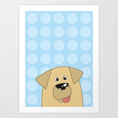Labrador Yellow Dog Art Print