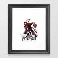Folkbol T Framed Art Print