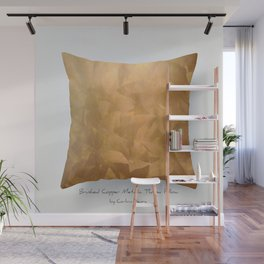 Brushed Copper Metallic Throw Pillow Art Print - Postmodernism - Jeff Koons Inspired Pop Art Wall Mural