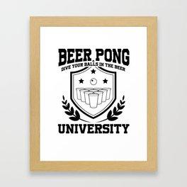 Beer Pong University Drinking Game Mug Gift Framed Art Print