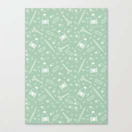 Medicine pattern Canvas Print