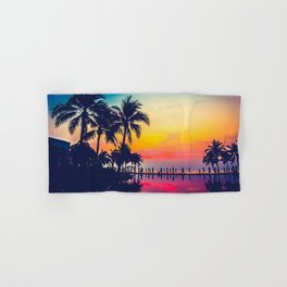 Miami sunset Hand & Bath Towel