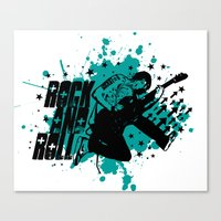 rock and roll Canvas Prints featuring Rock & Roll by Chamber Decals