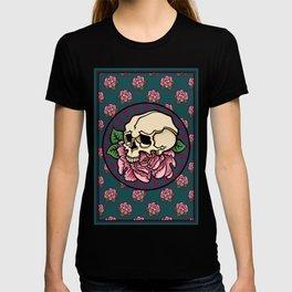 Skull with peony T-shirt