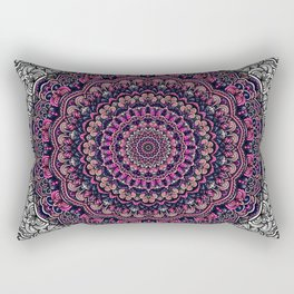 Purple color mandala Sophisticated ornament Rectangular Pillow