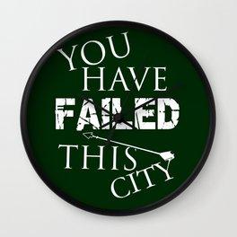 Arrow - You Have Failed This City! Wall Clock