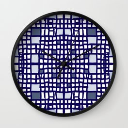 Filet crochet lace  Wall Clock