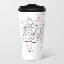 World Metro Subway Map Travel Mug