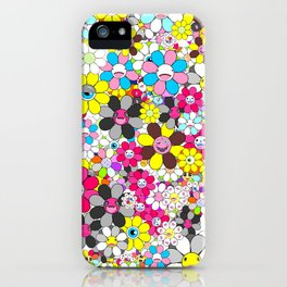Social flowers iPhone Case