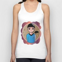 spock Tank Tops featuring Spock by hannahroset
