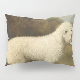 George Stubbs - White Poodle in a Punt Pillow Sham