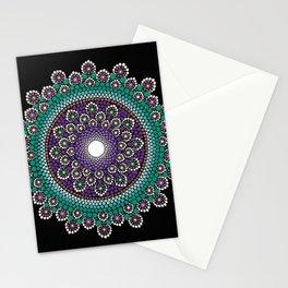 Purple and Teal Mandala Stationery Cards