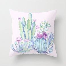 Mixed Cacti Pink #society6 #buyart Throw Pillow