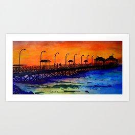 Muelle de Huanchaco Art Print