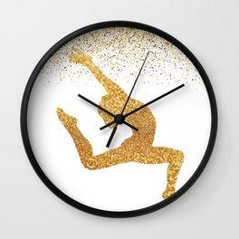 Gold Gymnast Wall Clock