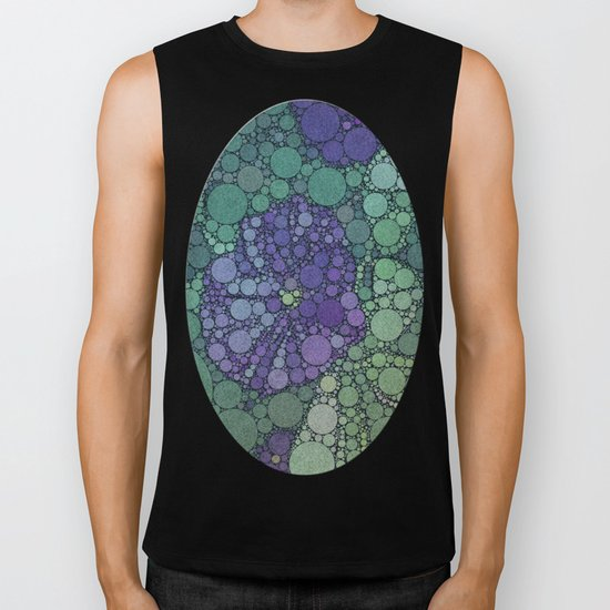 Percolated Purple Potato Flower Biker Tank