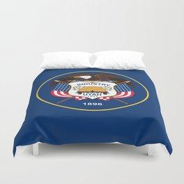 Utah State Flag - Authentic Version Duvet Cover