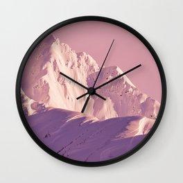 Pink Sherbet - Alaskan Mts. I Wall Clock