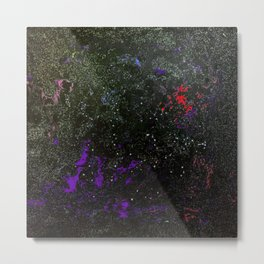 Southern Constellations (Red) Metal Print