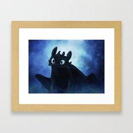 Toothless Framed Art Print
