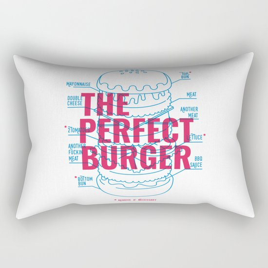 The Perfect Burger Rectangular Pillow