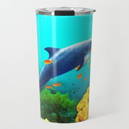 Dolphin in Water Travel Mug