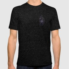 Magic Hand Tri-Black Mens Fitted Tee LARGE