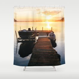 Sunrise at the Cottage Shower Curtain