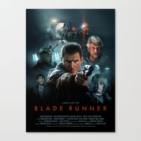 blade runner Canvas Prints featuring Blade Runner by Brian Taylor
