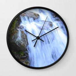 Waterfall in Tuscany / Italy Wall Clock