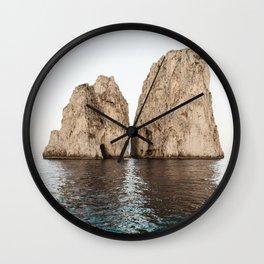 Ocean Rocks Wall Clock