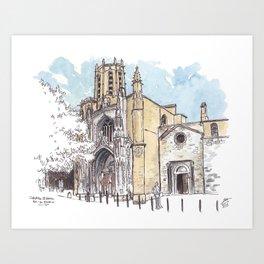 Aix Cathedral (St. Sauveur) Art Print
