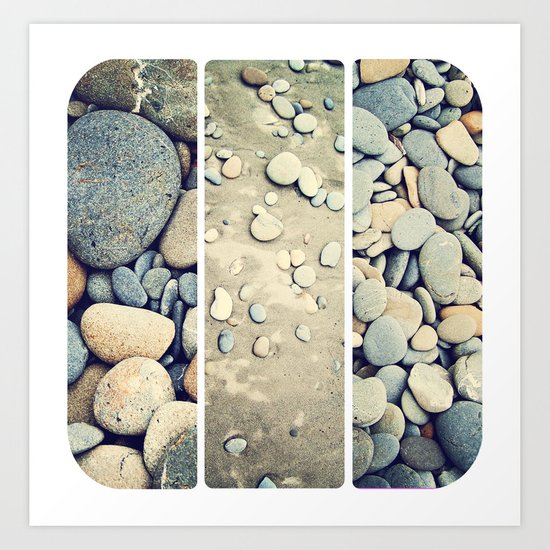 Ruby Beach Trio Art Print