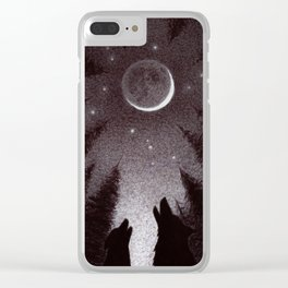 XVIII. The Moon Clear iPhone Case