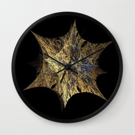 3D Fractal Star Wall Clock