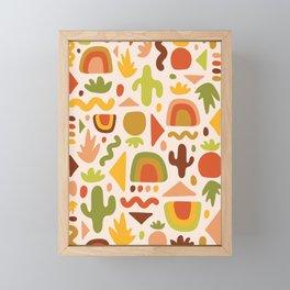 Succulent Cutout Print Framed Mini Art Print