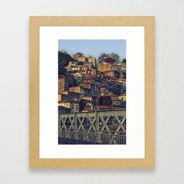 Porto from the bridge. Framed Art Print