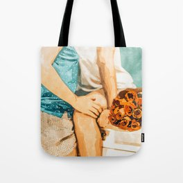 Romance #painting #love Tote Bag