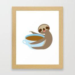 sloth & coffee 2 Framed Art Print