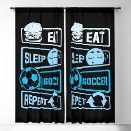 Eat Sleep Soccer Repeat Blackout Curtain
