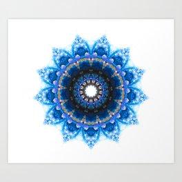 Mandala 1 BLUE Art Print