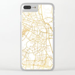 NEW DELHI INDIA CITY STREET MAP ART Clear iPhone Case
