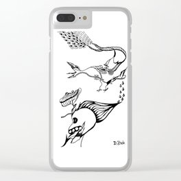 Abstraction 3.0 Clear iPhone Case