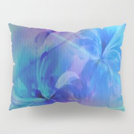 Soft  Colored Floral Lights Beams Abstract Pillow Sham